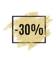30 percent off discount promotion tag vector image