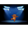 A bear with spotlights vector image