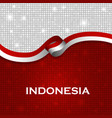 indonesia flag ribbon shiny particle style vector image