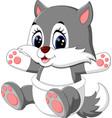 cute wolf cartoon vector image
