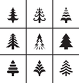 Christmas fir tree icons set vector image