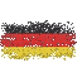 Germany grunge tile flag vector image