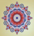 patterns round ornament Decorative elements vector image