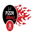 pizza delivery2 resize vector image
