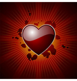 Valentine's heart background vector image