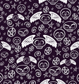 Seamless voodoo pattern vector image