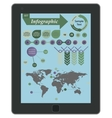 Tablet with infographics elements vector image