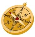 Retro Gold Compas vector image