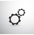 black two gears icon vector image