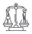 divorceman opposite woman line icon sign vector image