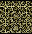 golden seamless pattern black background vector image