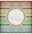 seamless floral borders abd napkin vector image