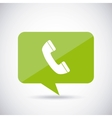 speech bubble with phone icon vector image