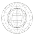 sphere within sphere vector image
