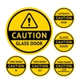 Stickers and Labels on the door vector image