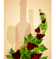 wine background vector image