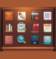 school and educational icons vector image vector image