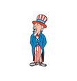 Uncle Sam American Shouting Cartoon vector image vector image