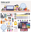 Make up kit on the table vector image