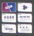 Blue and Purple presentation templates set vector image