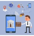 concept of internet banking vector image