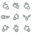 hand with warning forefinger vector image