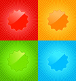multicolored set of empty labels on the background vector image
