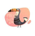 Summer of toucan in the background vector image