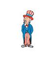 Uncle Sam American Shouting Cartoon vector image