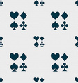 card suit Icon sign Seamless pattern with vector image