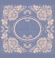 vintage round frame  russian hohloma style vector image vector image
