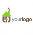 house cook food logo vector image