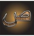 wooden Arabic figure vector image