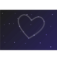 Constellation heart vector image
