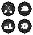 Badges coal industry 2 vector image vector image