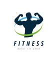 fitness logo design template health or gym vector image
