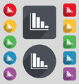 Infographic icon sign A set of 12 colored buttons vector image