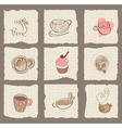 coffee design elements on torn paper - for scrapbo vector image