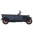 Vintage dark open car vector image