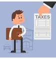 Cartoon for financial vector image