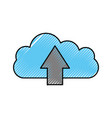 cloud computing arrow upload storage information vector image