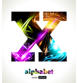 Design Abstract Letter X vector image