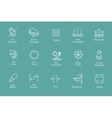 Garments and fabrics properties icons like vector image