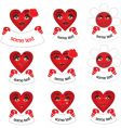 icons hearts vector image