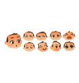 set of flat comic baby boy emoticon emoji set vector image