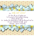 Wedding invitation with frangipani for your design vector image