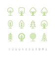 Tree icons set 1 vector image vector image