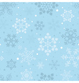 Snowflake seamless pattern Vintage outline version vector image