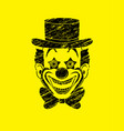 clown head smile face graphic vector image