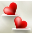 pair valentine heart EPS 10 vector image vector image